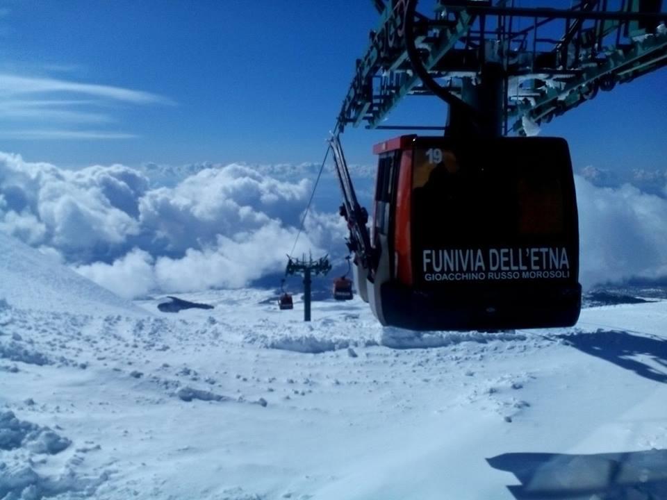 Inizia la stagione sciistica sull'Etna