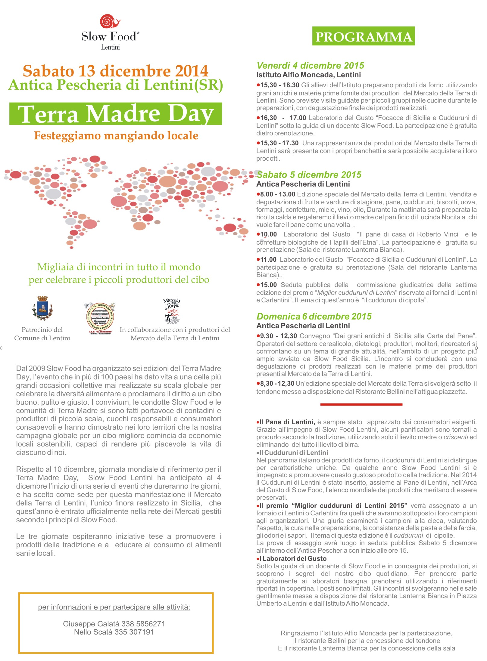 Slow Food Lentini: È Terra Madre Day !