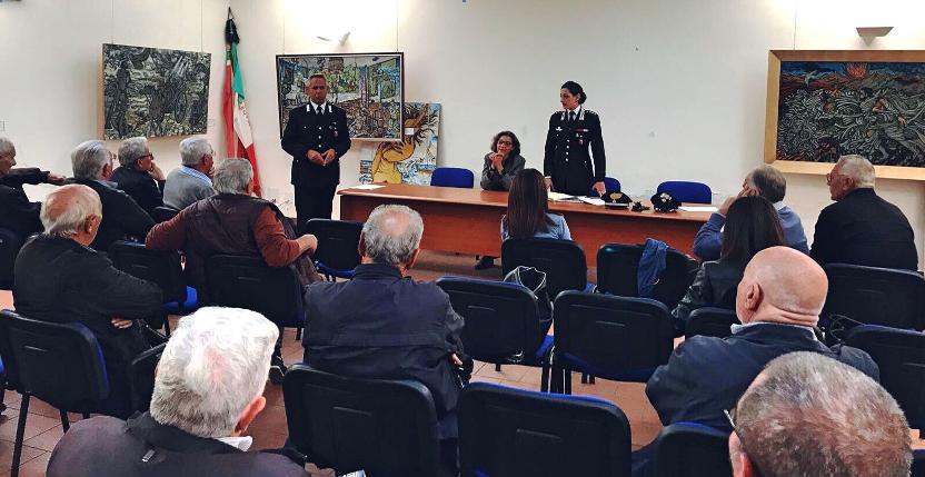 Truffe agli anziani, a Lentini i carabinieri incontrano i cittadini. Conferenza del comandante della compagnia di Augusta Capitano Rossella Capuano