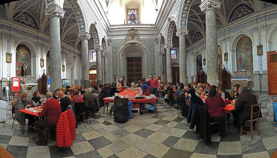 Chiesa di Santa Maria La Cava e Sant'Alfio a Lentini: una chiesa trasformata in mensa per il pranzo di Capodanno