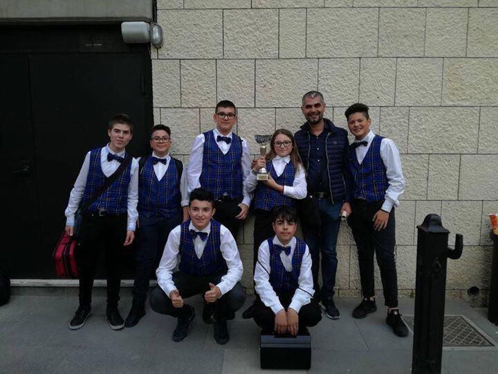 """Carlentini, i giovani musicisti dell'Istituto """"Carlo V"""" hanno vinto il primo posto al concorso nazionale """"Città di Taormina""""."""