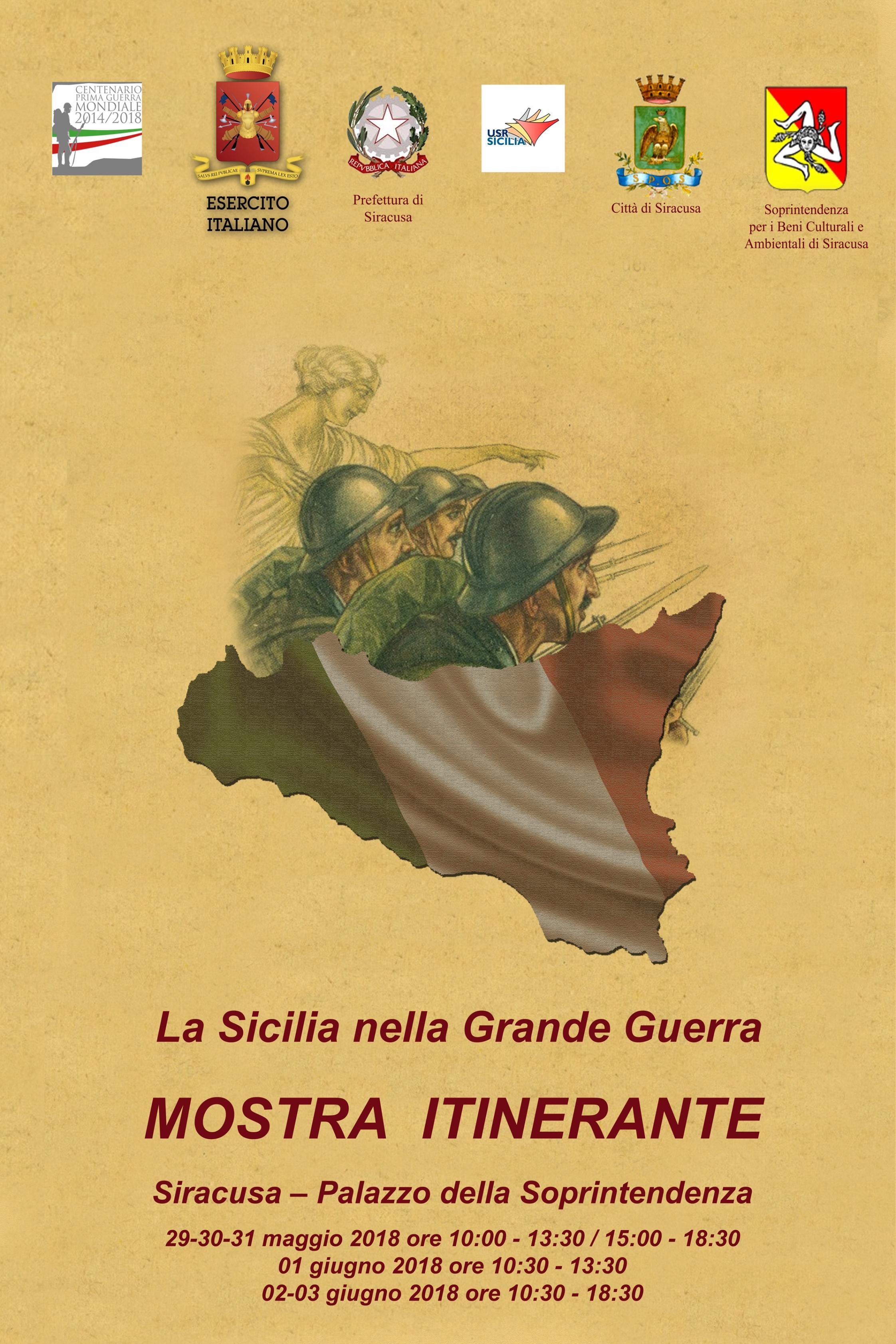 """""""La Sicilia nella Grande Guerra""""  Duecento opere di studenti siciliani ripercorrono la Grande Guerra scomponendo l'evento bellico in 14 temi di ordine sociale, culturale ed economico"""