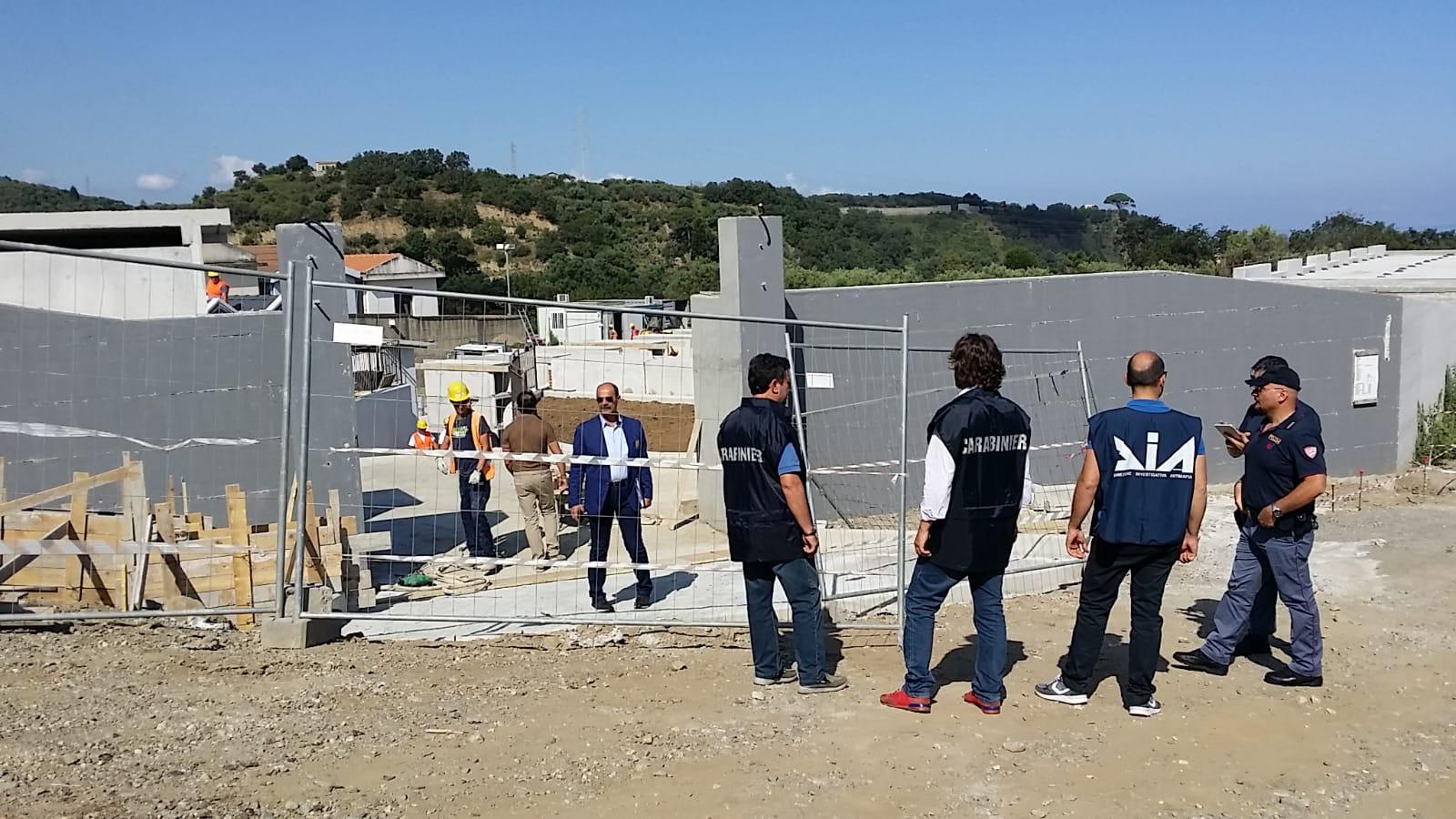 MESSINA: Ispezioni antimafia presso un cantiere sito in San Filippo del Mela