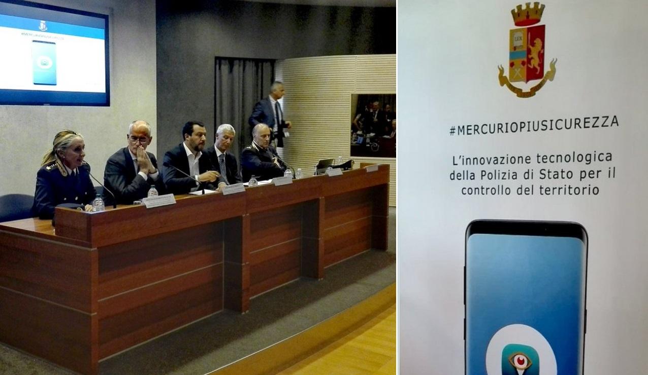 #MERCURIOPIUSICUREZZA  – PRESENTATA IERI NEL SALONE DELLE CONFERENZE DEL VIMINALE A ROMA, MERCURIO APP