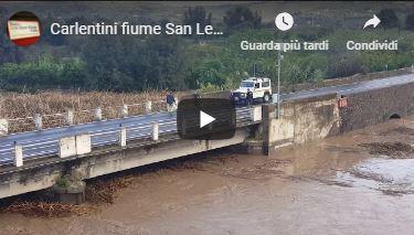 Carlentini fiume San Leonardo straripato 19 ottobre 2018