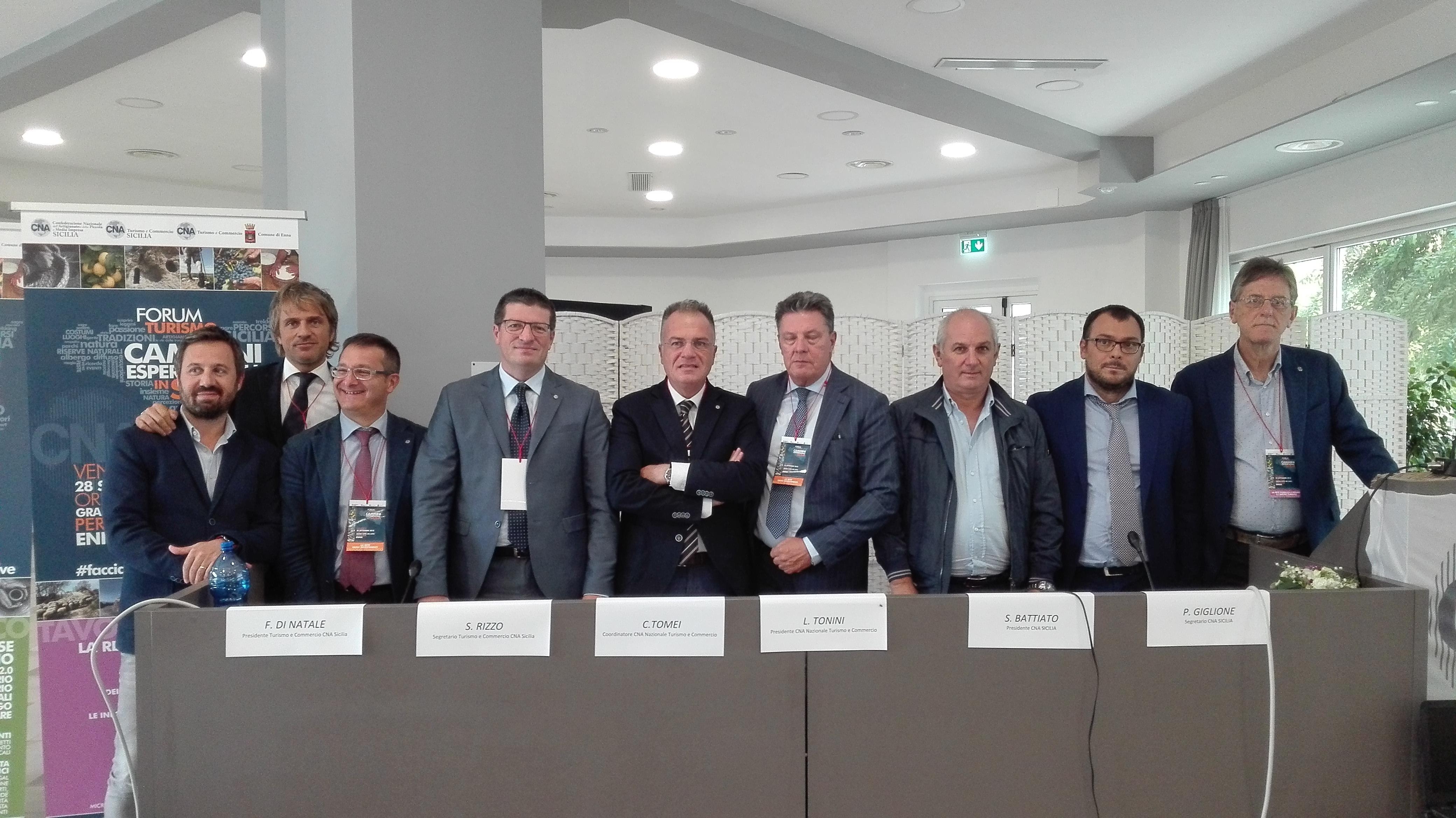 """Enna, Forum """"I Cammini Esperienziali in Sicilia"""", organizzato dalla Confederazione regionale Cna."""