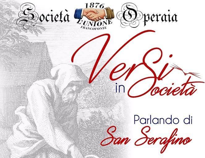 Francofonte, il 27 ottobre appuntamento con 'Versi in Società- parlando di San Serafino'