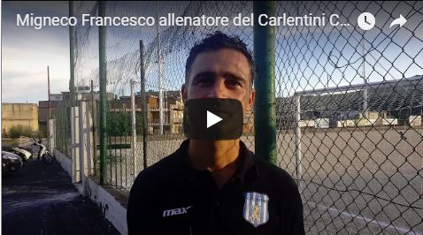 Migneco Francesco allenatore del Carlentini Calcio