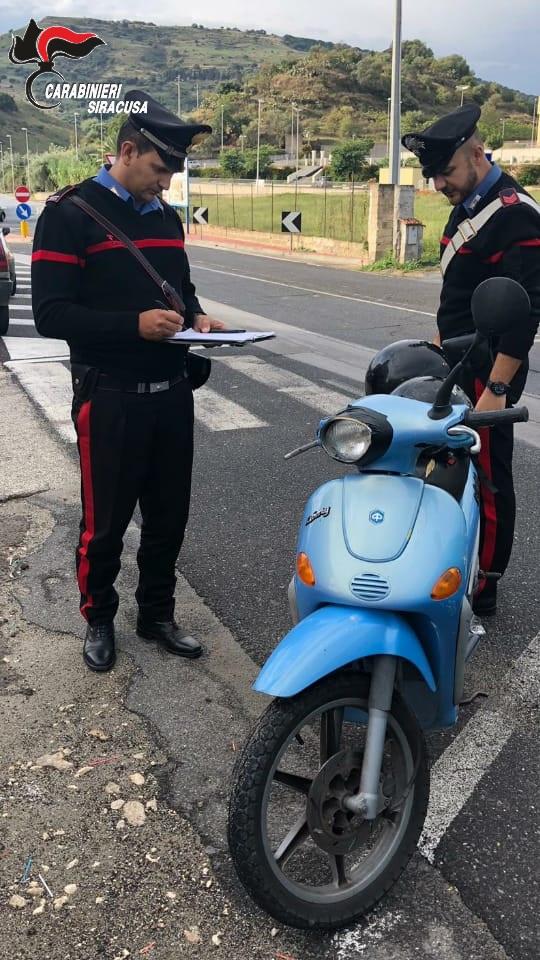 Carlentini, I carabinieri arrestato due giovani per furto di un motorino