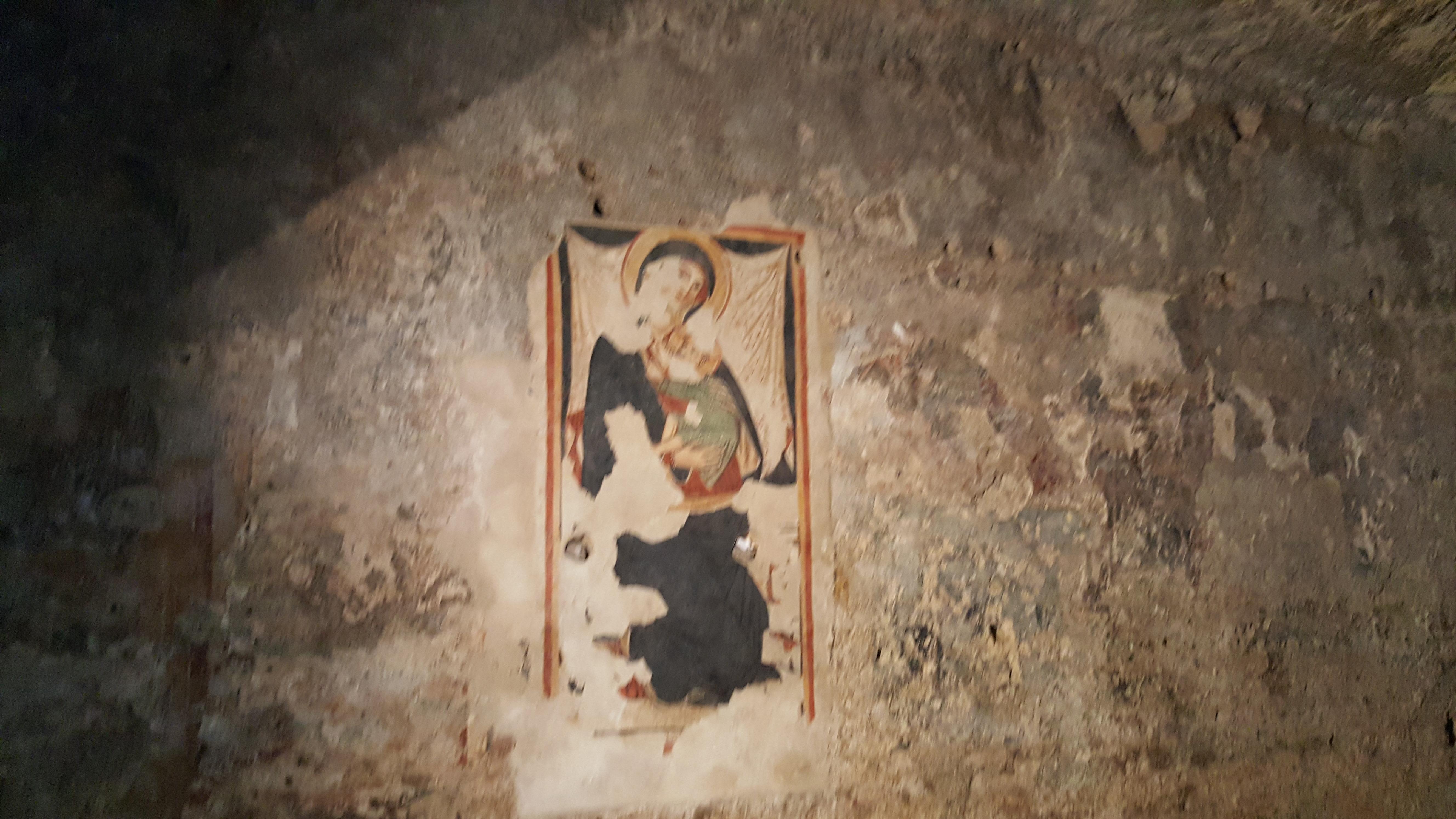 Lentini, Restaurato l' affresco Madonna del latte.  Il contributo interanente erogato dall'Archeoclub