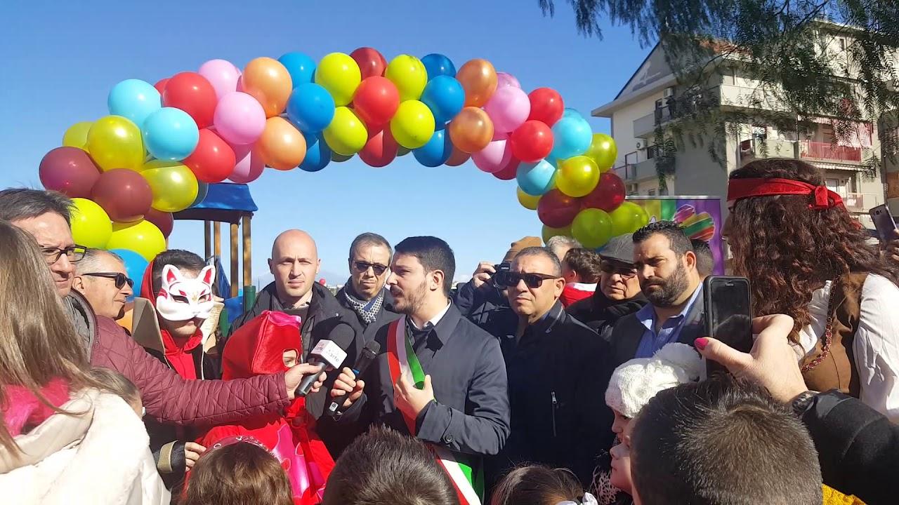 Lentini. Inaugurazione Ecoparcogiochi il sindaco Saverio Bosco