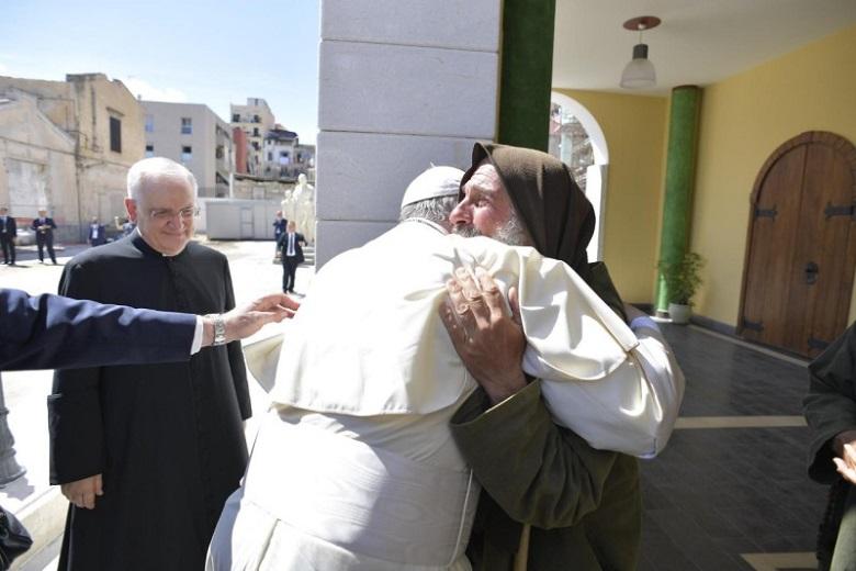 "Palermo, ""Grazie Papa Francesco per aver accolto i due fratelli Francois e Bekiri"