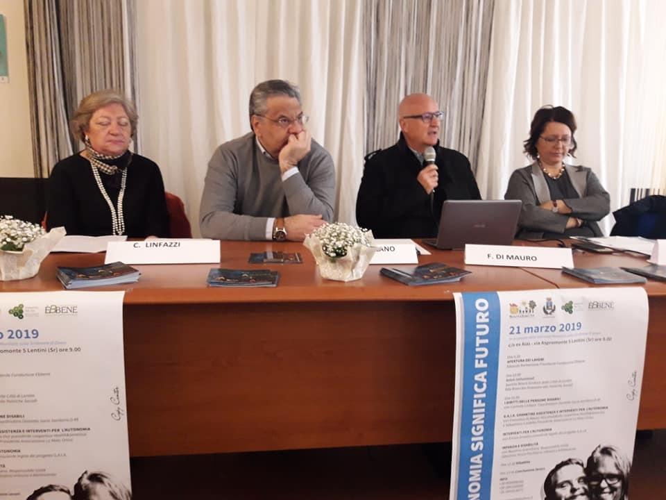 Lentini, presentato il progetto G.a.i.a. (Garantire interventi e assistenza per l'autonomia).