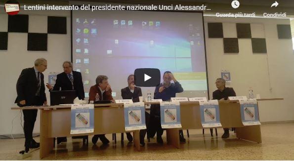 Lentini intervento del presidente nazionale Unci Alessandro Galimberti