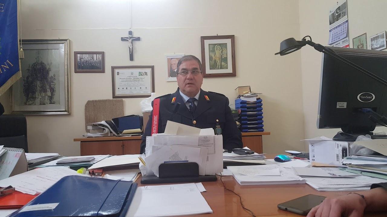 Carlentini intervista al Comandante della Polizia Municipale Sebastiano Barone