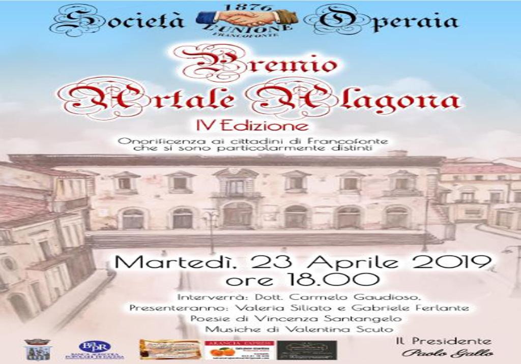 Francofonte , IV Edizione Premio Artale Alagona