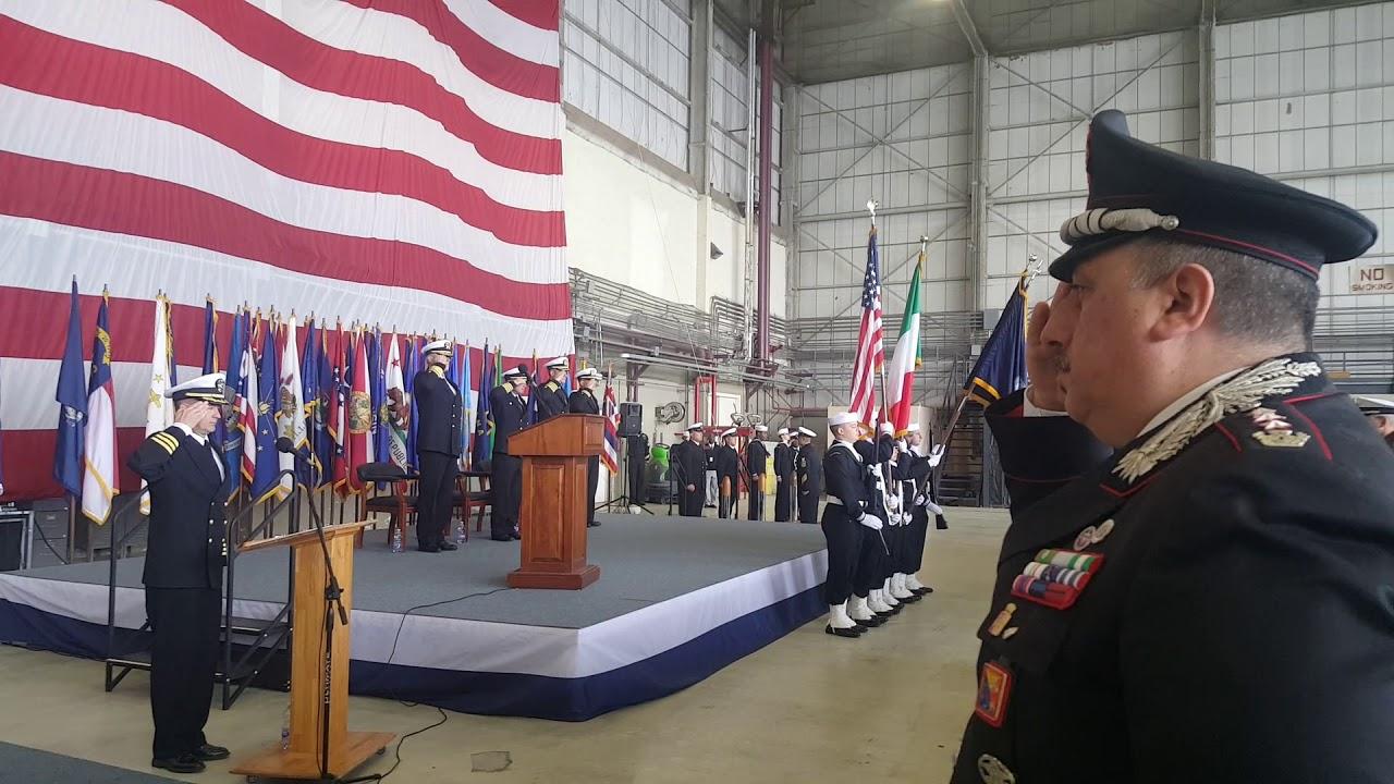 Lentini cerimonia del cambio del comando USNaval Station Sigonella