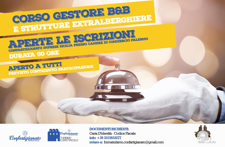 """Palermo, Formazione, ripartono i corsi per """"Gestori di B&B e strutture extralberghiere"""" Confartigianato Sicilia punta a migliorare la qualità dell'accoglienza"""