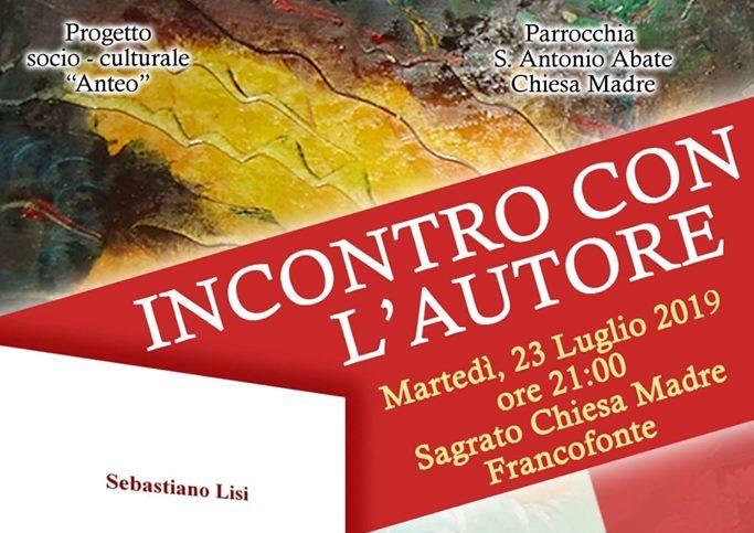Francofonte. 'Incontro con l'autore', il 23 luglio si comincia con Sebastiano Lisi