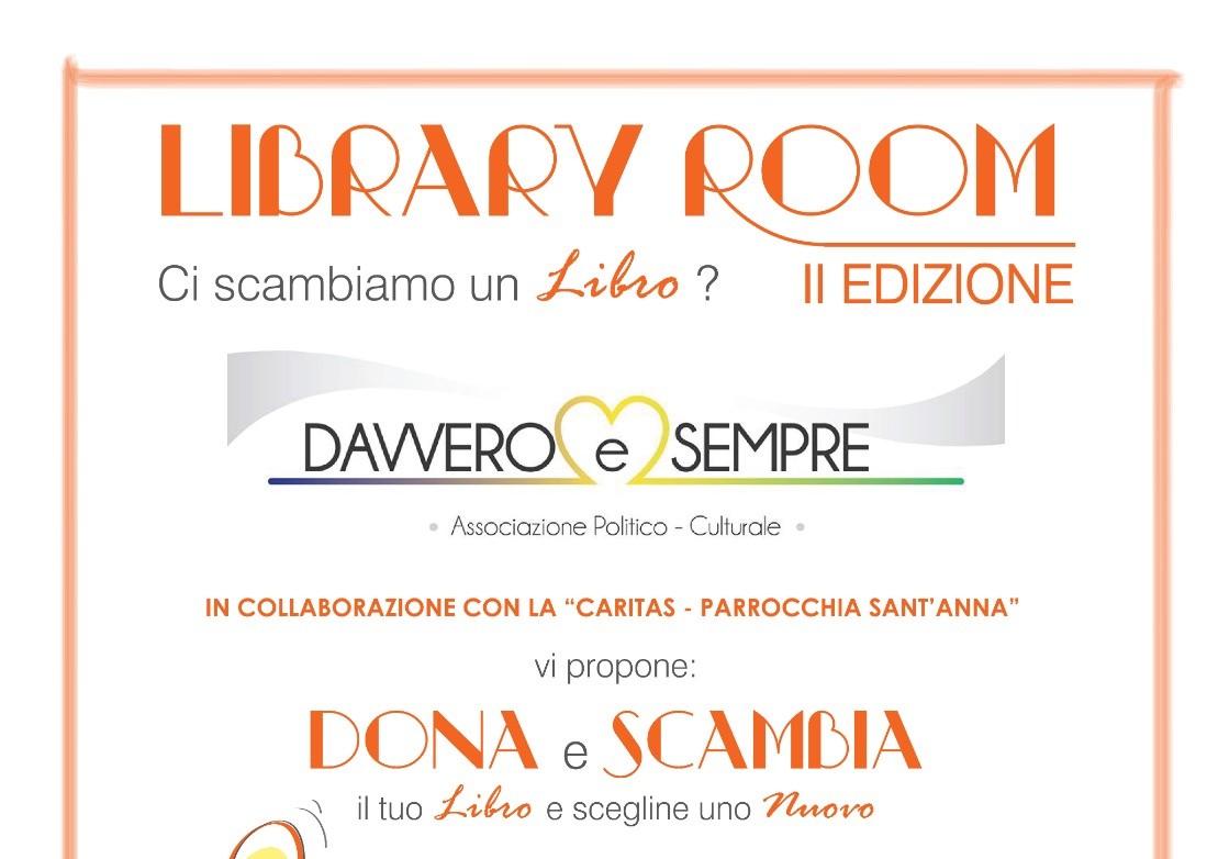 """Carlentini, l'associazione """"Davvero & Sempre"""" promuove """"Library Room"""", seconda edizione, per la cultura e la solidarietà."""