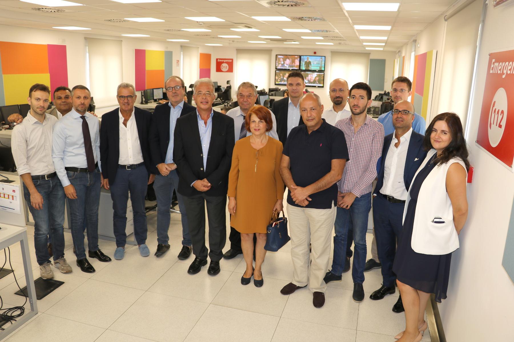 Catania, Delegazione della Bulgaria in visita alla Centrale 112 dell'Ospedale Cannizzaro