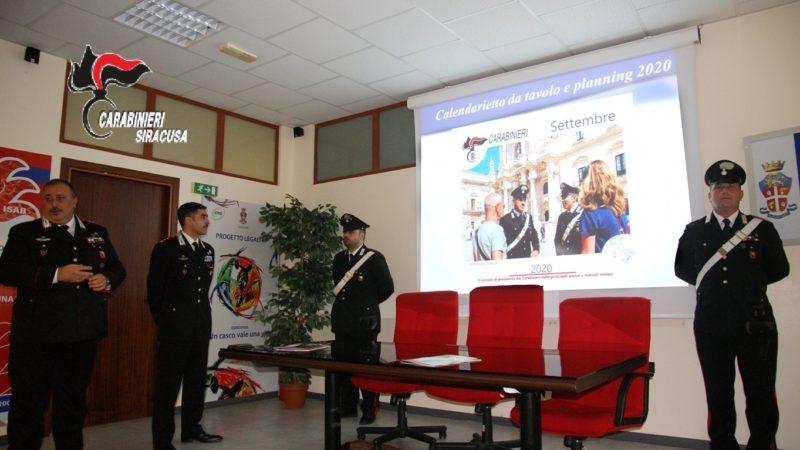 Siracusa, il comandante provinciale dei carabinieri colonnello Giovanni Tamborrino ha presentato il calendario dell'Arma