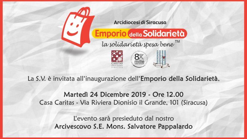 Siracusa, domani inaugurazione l' Emporio della solidarietà