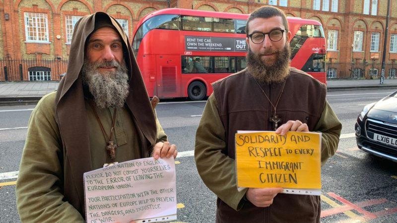 Londra, Fratel Biagio lancia un messaggio all' Inghilterra: Non commettere l'errore di uscire da U.E.