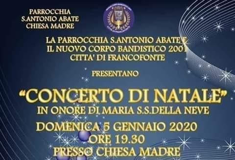 """Francofonte. Il 5 gennaio """"Concerto di Natale"""" in chiesa Madre"""