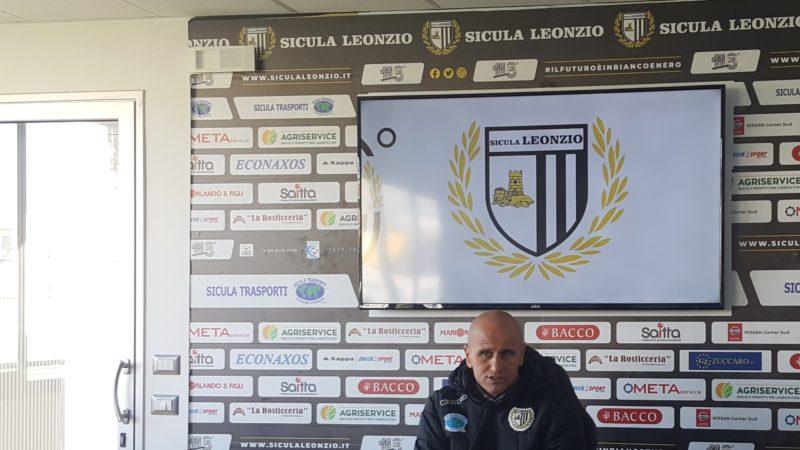 """Lentini, Vigilia di Sicula Leonzio – Teramo. L'allenatore Giovanni Bucaro:""""per noi adesso inizia un nuovo campionato che deve essere ricco di positività""""."""