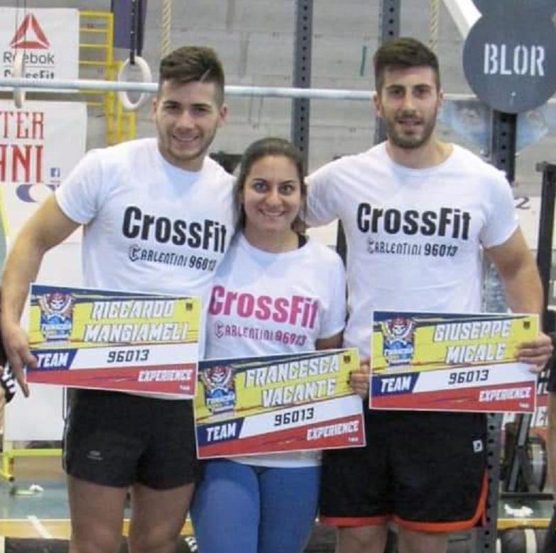 """Carlentini, Primo gradino del podio per il box di CrossFit """"Carlentini 96013"""", allenato da Cristian Ippolito."""