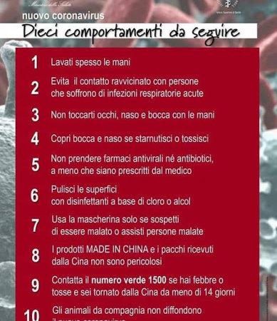 CORONAVIRUS, AVVISO DEL SINDACO DI LENTINI SAVERIO BOSCO ALLA CITTADINANZA