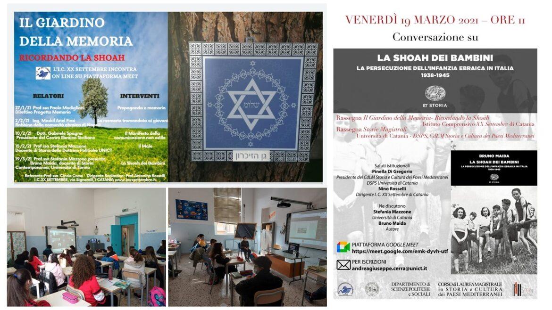 """Catania, Giardino della Memoria  All'Istituto """"XX Settembre"""""""