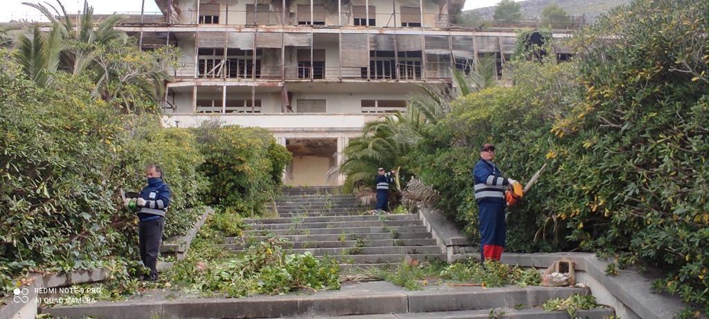 Erice: la Regione mette a nuovo la pineta dell'ex sanatorio