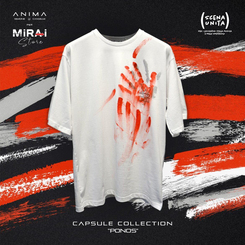 """PONOS: la t-shirt firmata Anima e Mirai a sostegno di """"Scena Unita"""""""