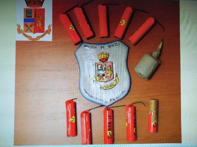 LENTINI, La Polizia arresta un umo per detenzione ilegale di esplosivo  e denunciato per maltrattamenti in famiglia
