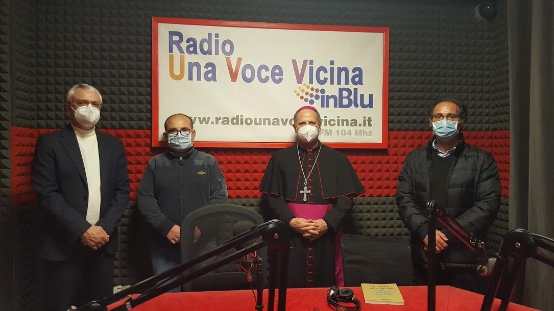 Carlentini, L'arcivescovo di Siracusa  Mons. Francesco Lomanto in visita a Radio Una Voce Vicina