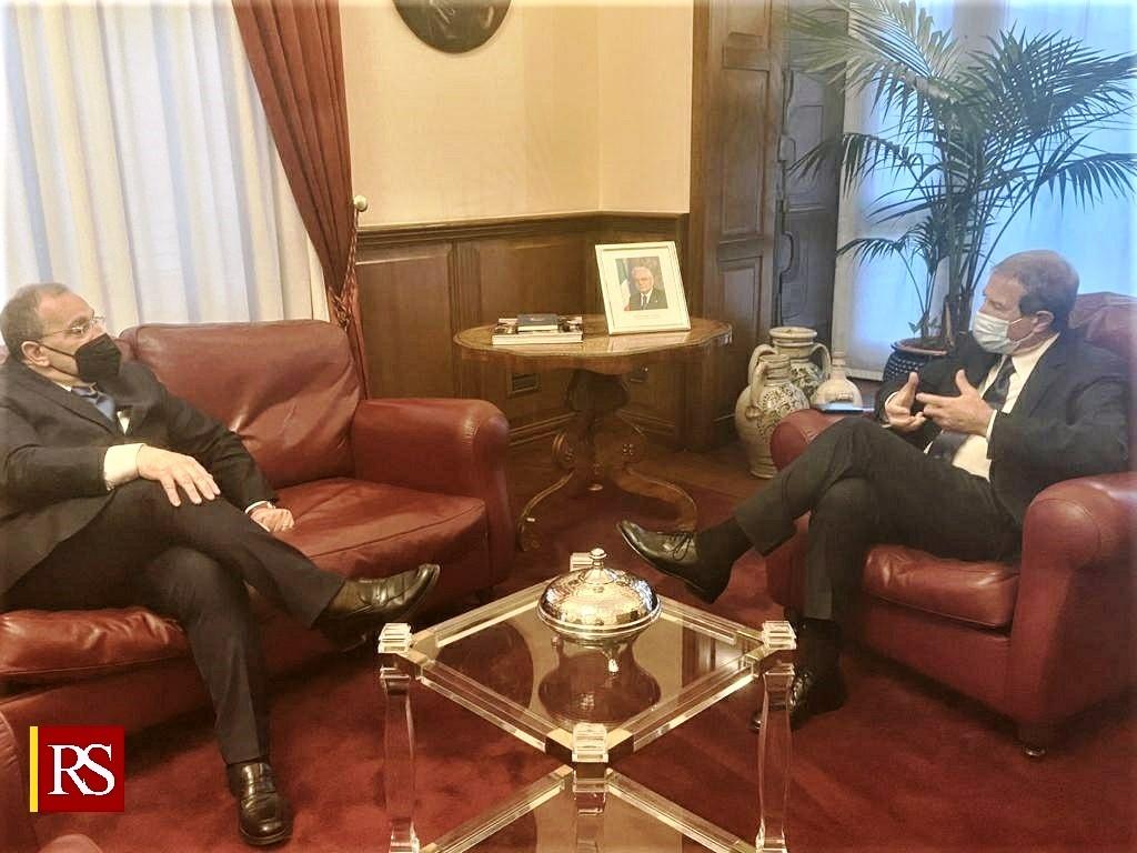 Palermo, Palazzo Orleans: Musumeci riceve il responsabile del Viminale per i migranti