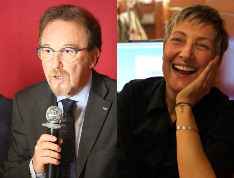 Una Voce In Blu. Il segretario confederale UGL Giovanni Condorelli e l'artigiana Claudia Della Penna ospiti della puntata di mercoledì 5 maggio