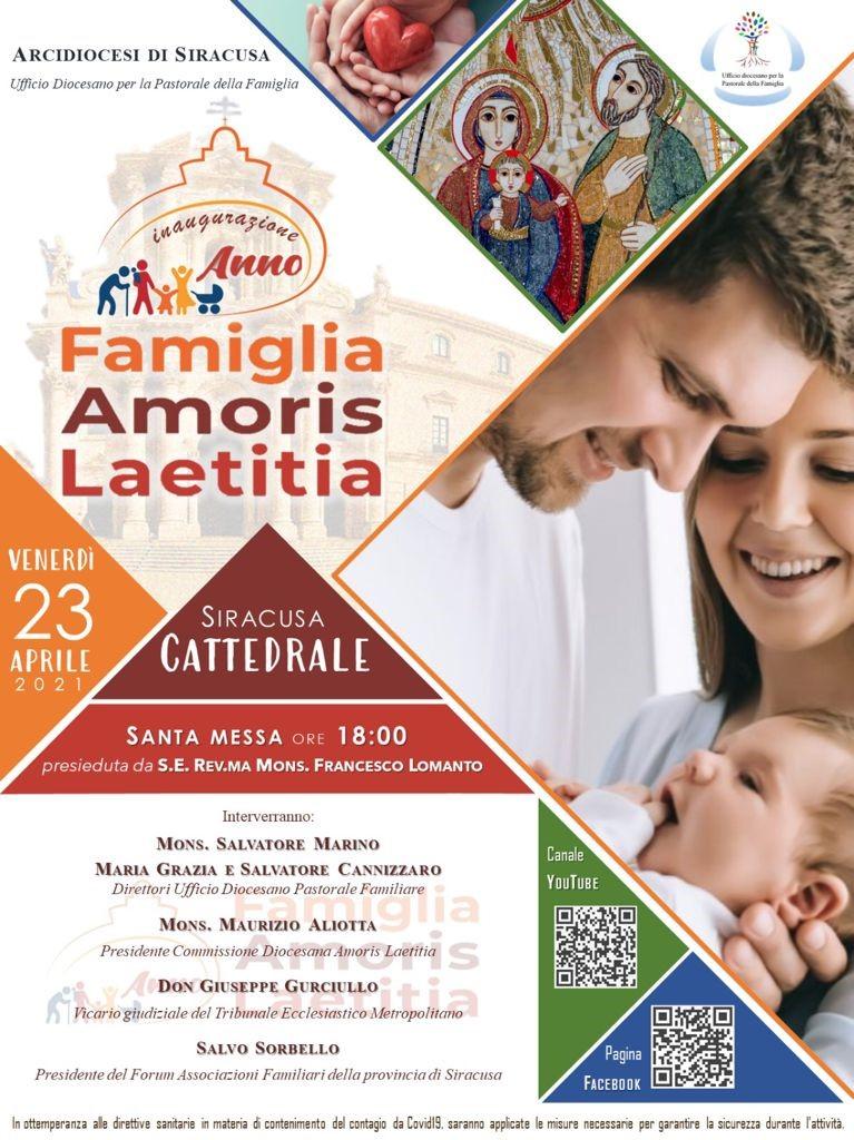 Siracusa, Incontro su Amoris Laetitia, l'amore in famiglia