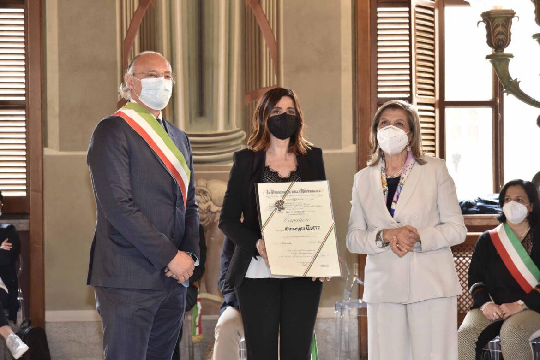 """Giuseppina Torre: Onorificenza di Cavaliere dell'Ordine """"Al Merito Della Repubblica Italiana"""""""