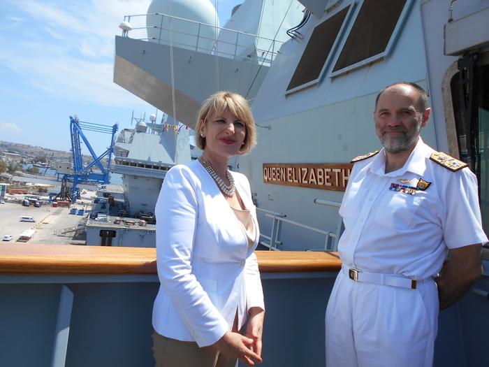 La Queen Elizabeth in Sicilia, 'impegno Gb per la sicurezza'