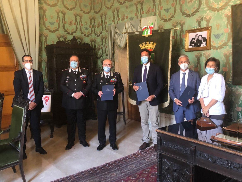 Nuovo passo per la costruzione del Comando dei Carabinieri alla Pizzuta, firmato stamattina l'accordo attuativo sull'assegnazione dell'area