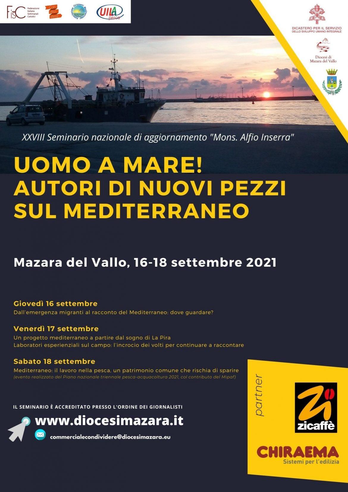"""Mazara del Vallo, il seminario di formazione FISC """"monsignor Alfio Inserra"""" dal 16 al 18 settembre 2021"""