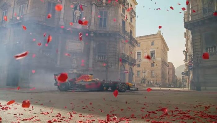 """Palermo, F1: clip di Verstappen girata a Palermo """"Monza is calling"""""""