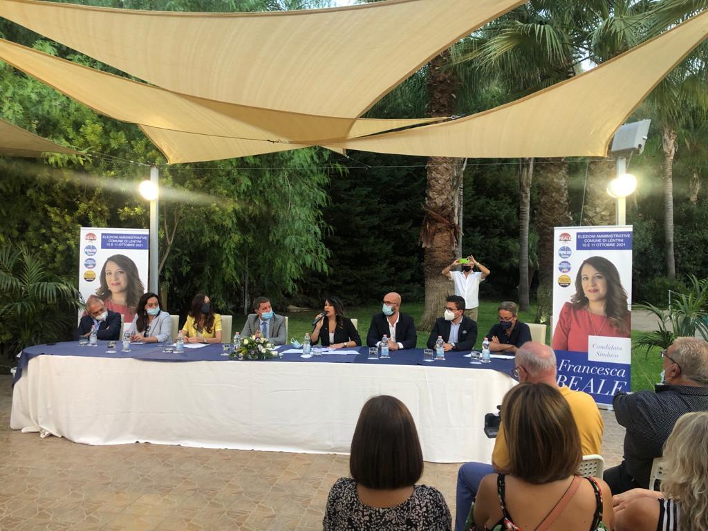 Elezioni comunali 2021, la professoressa Francesca Reale, candidata sindaco di Lentini, presenta  la squadra degli assessori e i 64 candidati al consiglio comunale
