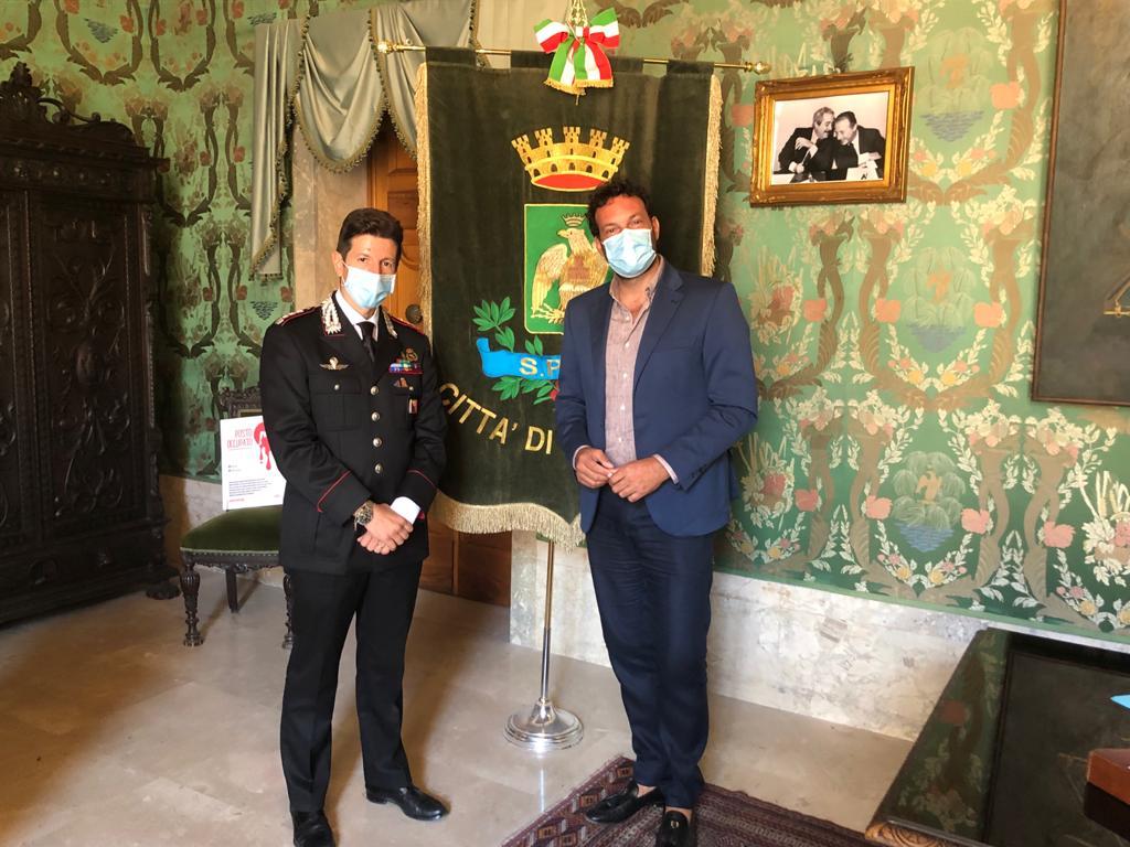 Ricevuto dal sindaco Italia il nuovo comandante provinciale dei Carabinieri Gabriele Barecchia