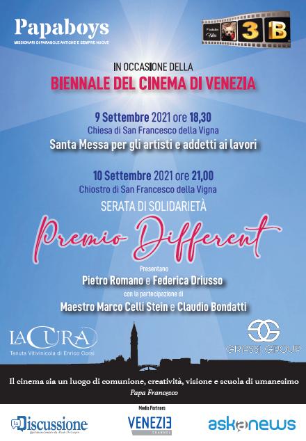 """Venezia, """"Premio Different"""" a Venezia con i Papaboys: i nomi che illumineranno la serata dei ragazzi del Papa"""