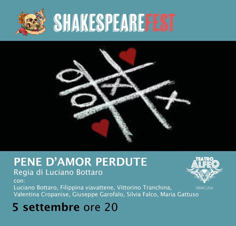 Siracusa, Shakespeare Fest al Teatro Alfeo